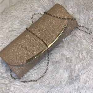 Gold Small Clutch with shoulder chain